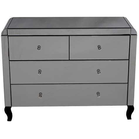 Mirrored Chest Of Drawers Uk by Smokey Mirrored Chest Of Drawers Furniture From