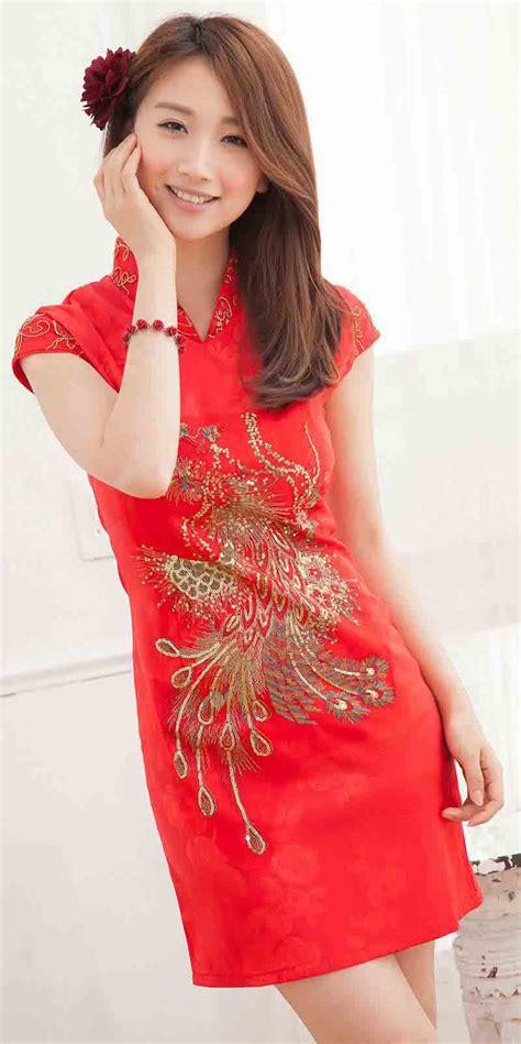 Cheongsam Murah Merah Bunga Al036 baju dress cheongsam wanita imlek 2014 model terbaru