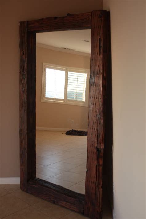 The Polish Carpenter: 7 ft tall reclaimed wood mirror