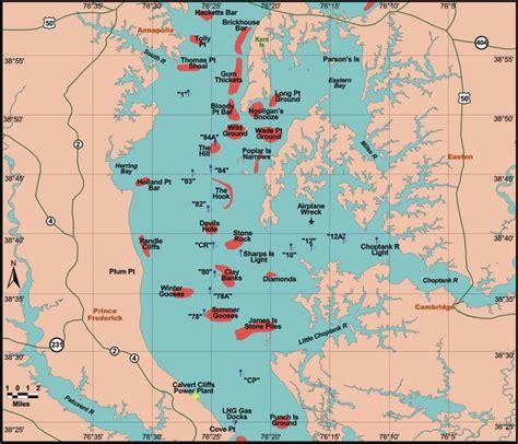 maryland bay map chesapeake bay boundary the hull