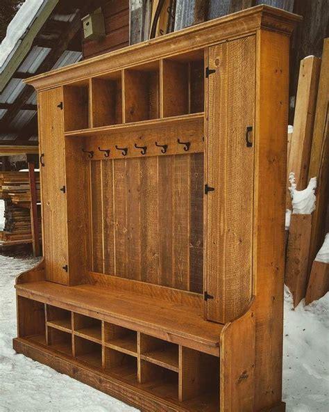 double locker hall tree hall tree diy furniture plans