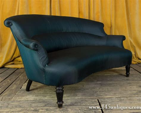 small settees for sale small curved back napoleon iii settee for sale at 1stdibs