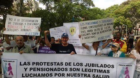 pago bono de alimentacion a pensionados el 18 de mayo de 2016 jubilados y pensionados se movilizaron para exigir el pago