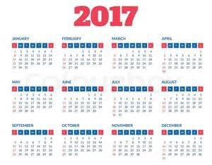 Sweden Calendrier 2018 Simple 2017 Year Calendar Clean Modern Flat Style