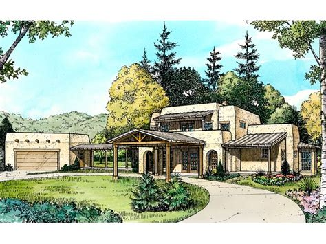 adobe homes plans adobe house plans two story adobe home plan design 008h