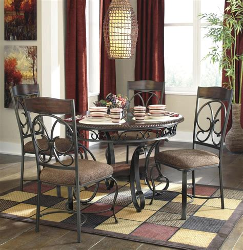 brown dining room set glambrey 5pc dining room set in brown by dining