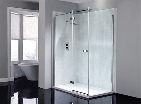 Shower Doors Hinged April Prestige Frameless 1200mm Hinged Shower Door Ap8912l