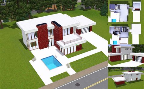 sims 3 house designs modern sims 3 modern house floor plans home design and style