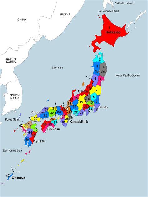 map of japan large detailed administrative map of japan japan large