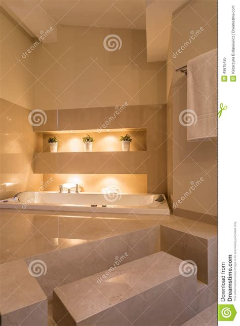 how to make bathroom cozy and comfortable interior cozy bathroom in residence stock image image of interior