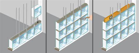 poser des briques de verre mur