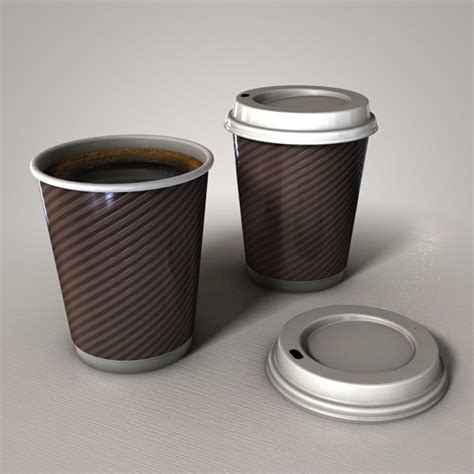 How To Make A Paper Coffee Cup - paper coffee cup 3d 3ds