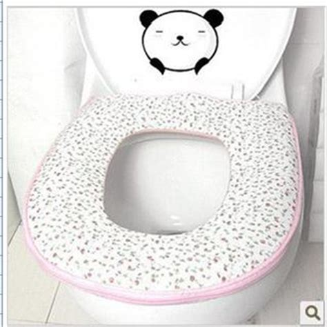 padded toilet seat cover 1pcs random color zipper thicken mat toilet seat cover