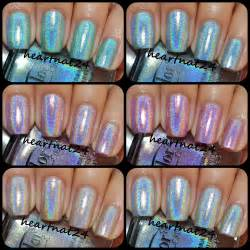 color club holographic heartnat color club halo hues collection swatches