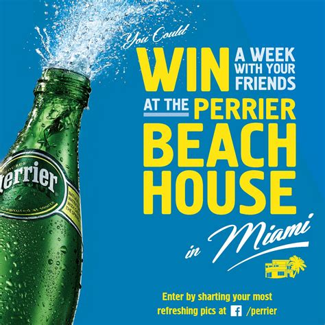 Beach House Giveaway - perrier beach house sweepstakes in store pos andrew zenyuch