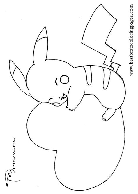 free coloring pages of pikachu