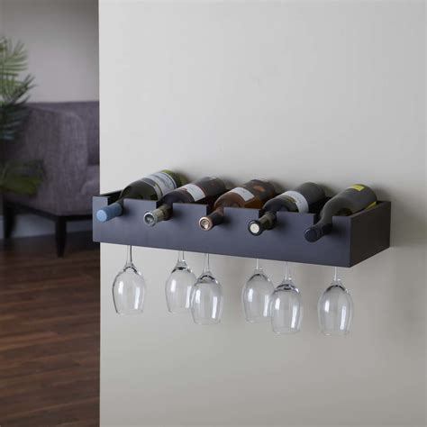 Wine Holder by Wall Mounted Wine Glass Holder Homesfeed