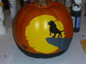 Wallpaper Or Paint the lion king painted pumpkin holiday pinterest