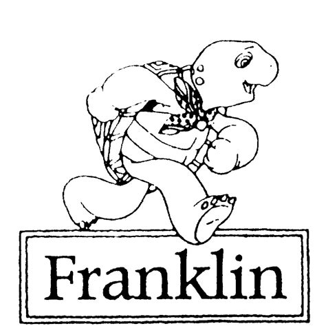 Franklin The Turtle Free Coloring Pages Franklin The Turtle Coloring Pages