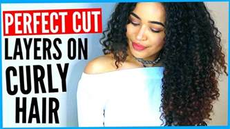 how to cut your own curly hair in layers diy layered haircut on curly hair how to cut curly hair