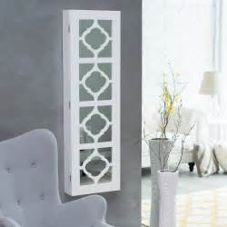 Wall Mount Jewelry Box Picture Frame Belham Living Lighted Locking Quatrefoil Wall Mount