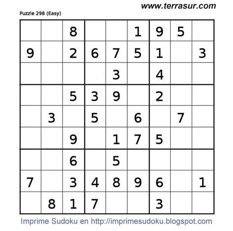 sudokus para imprimir sudoku onlineorg imprimir sudoku