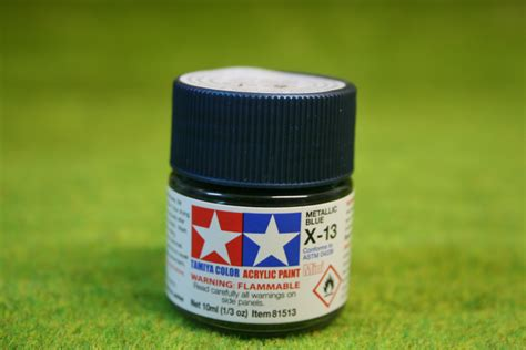 Tamiya Enamel X13 Metallic Blue tamiya color gloss metallic blue acrylic mini paint x13 10mls arcane scenery and models
