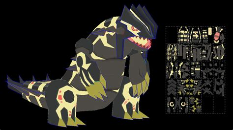 Groudon Papercraft - primal groudon papercraft model shiny by javierini on