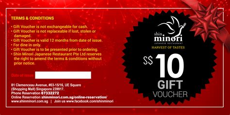 Vouchers Shin Minori Discount Terms And Conditions Template
