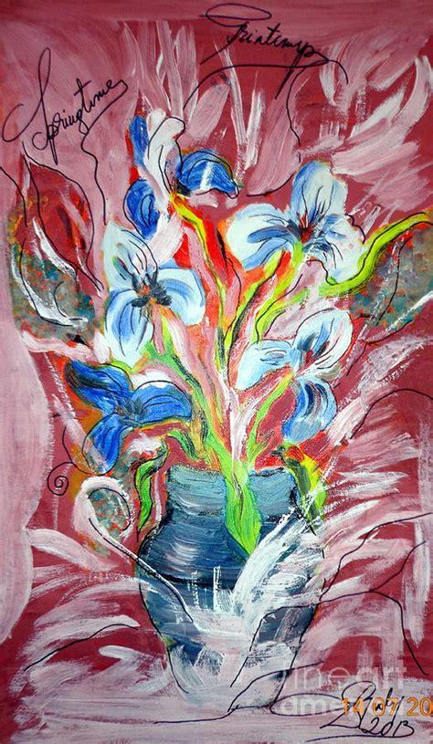 art dinca beautiful flowers painting by farfallina art gabriela dinca
