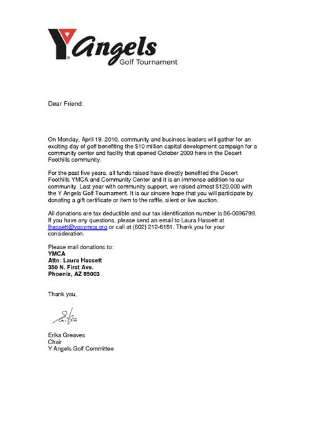 Ymca Fundraising Letter Sle Letter Requesting Financial Assistance For Ymca Best Free Professional Resignation