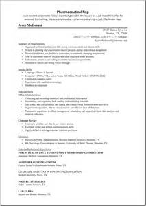 resume template for medical representative - Sample Resume For Medical Representative