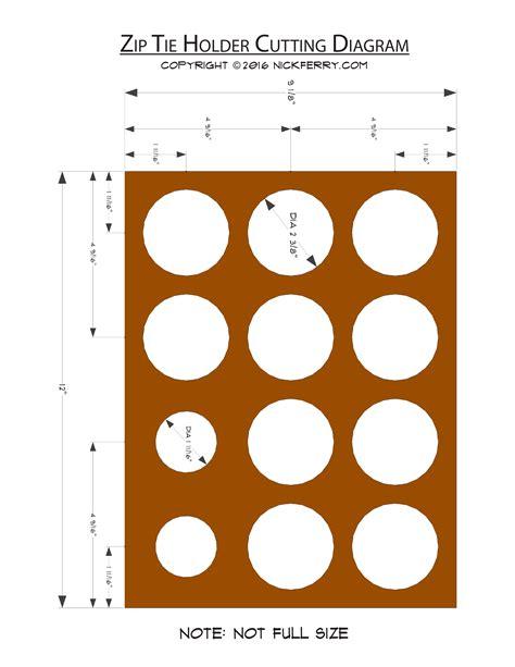 layout zip 187 zip tie holder cutting layout