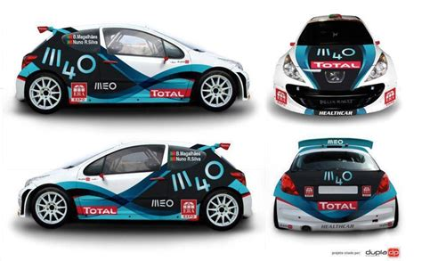 foto design racing peugeout rally livery belettering pinterest