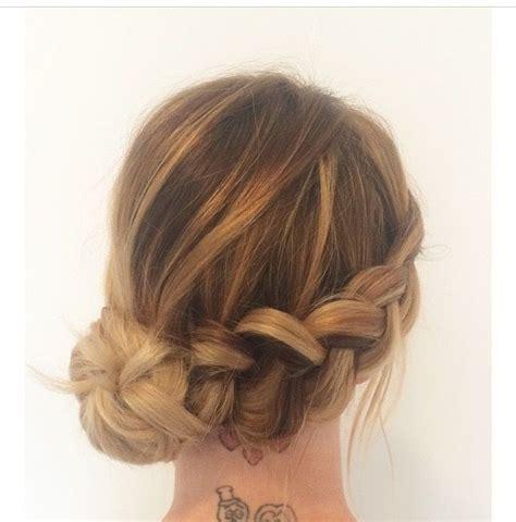 Wedding Hair Buns On Side by Wedding Hair Side Bun With Braid Www Imgkid The