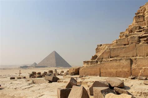 interieur pyramide de kh phren pyramides de gizeh