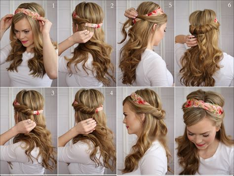 tuck in hairstyles wonderful diy tuck and cover half hairstyle
