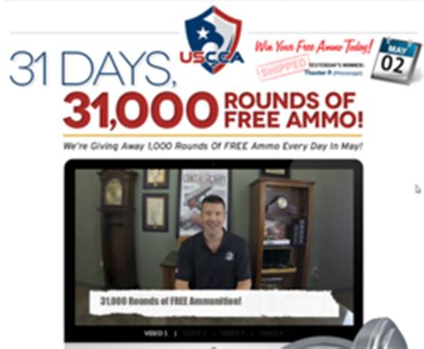 Uscca Sweepstakes - u s concealed carry association giving away 31 000 rounds of ammo
