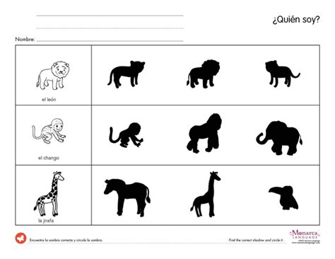 printable animal figures jungle animals 4s printables