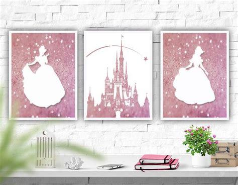 free printable princess wall art printable art disney castle nursery wall art set of 3