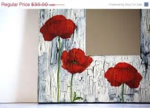 20 sale poppy decoupage mirror home decor living room