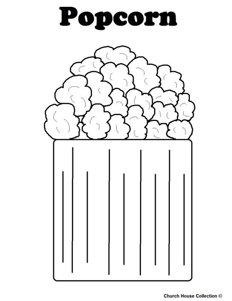 popcorn coloring pages preschool free coloring pages of popcorn bucket