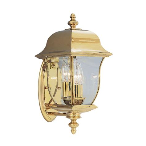 polished brass outdoor lighting designers fountain oak harbor 3 light polished brass