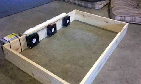 fan that attaches to bed diy air conditioned dog bed is affordable and easy to make