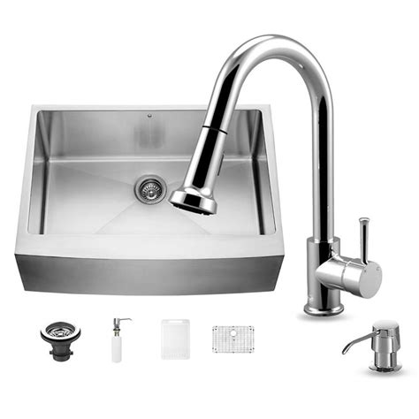 commercial grade stainless steel kitchen sinks shop vigo 30 0 in x 22 25 in single basin stainless steel