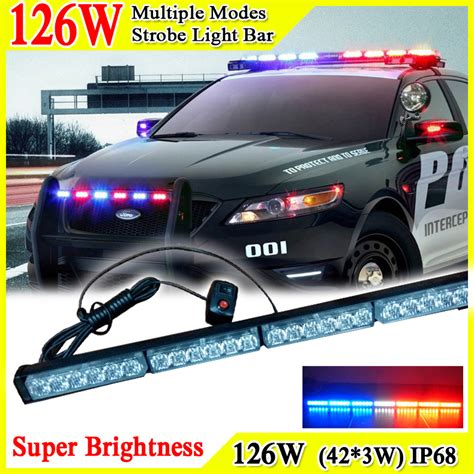 police lights for sale cheap 41inch 126w car roof led strobe lights bar police