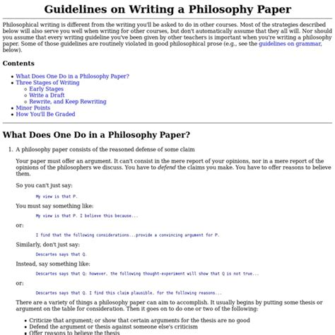 tips on writing a philosophy paper how do you start writing a philosophy paper report574