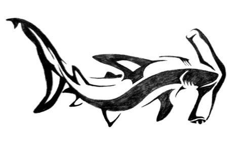 tribal hammerhead shark tattoo tribal hammerhead shark design by aingealdorcha
