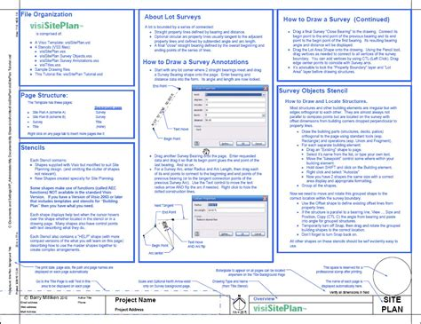 visio site plan template visisiteplan set visio app for surveys and site plans
