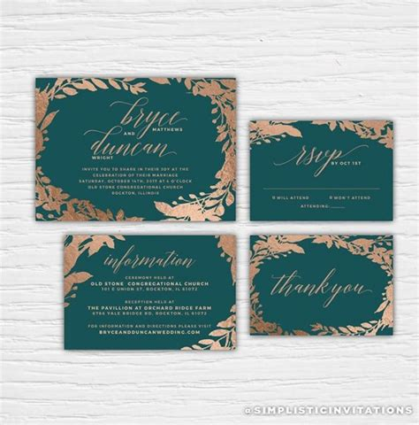 wedding invitations teal and copper wedding colour inspiration teal and copper sugar